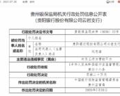 贵阳银行定增计划一波三折 ,一天9罚单背后资产质量现隐忧