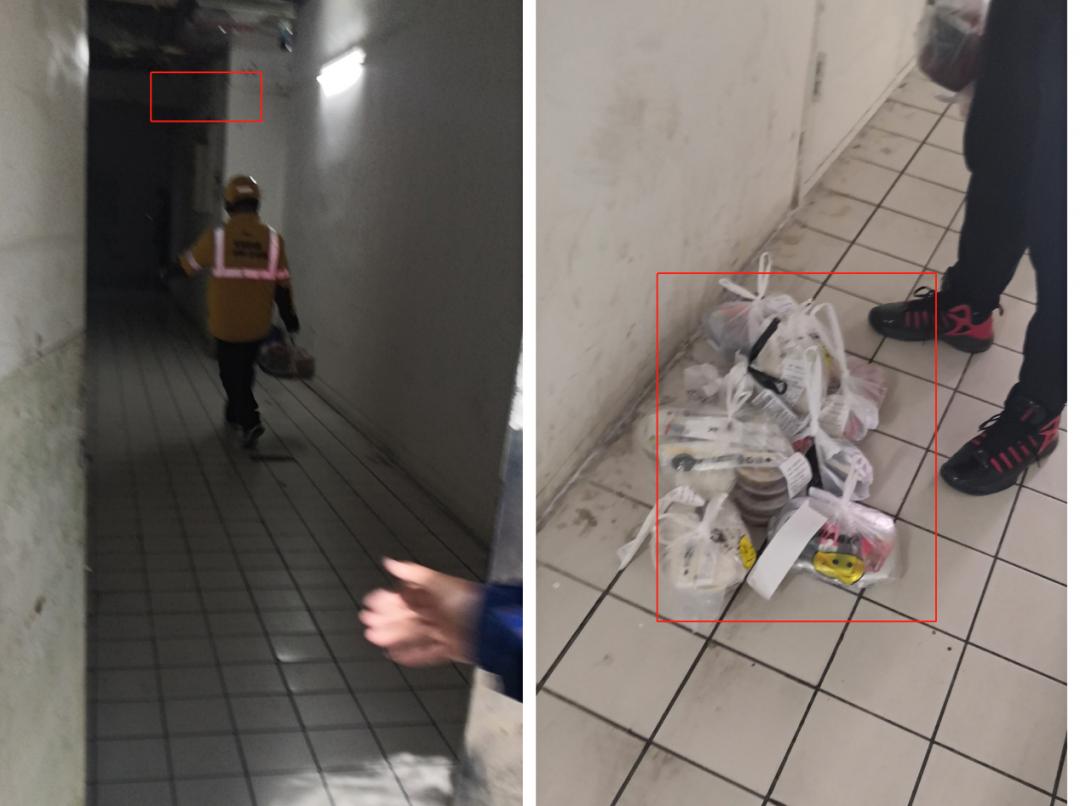米袋放垃圾旁、外卖堆地上,3·15被曝光的曼玲粥店脏乱依旧